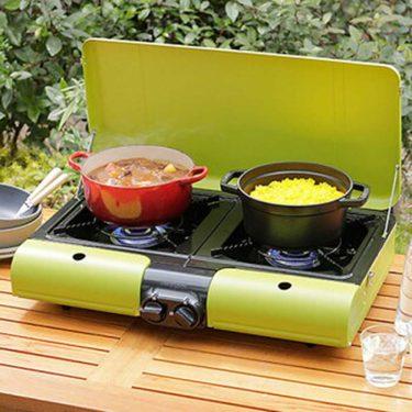 【イワタニ フラットツイングリル】スタイリッシュなテーブルトップ型のツインバーナー